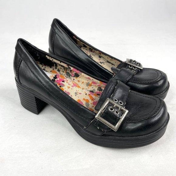 143 Girl Y2K Chunky Black Buckle Mary Jane Heels 9